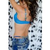 Blue Crystal matching Jewel and Bra Straps and G'String Set
